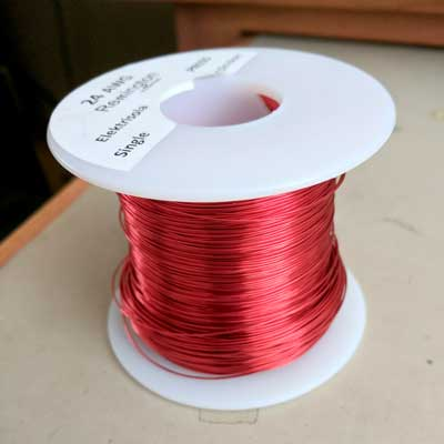 Spool of #24 Magnet wire.