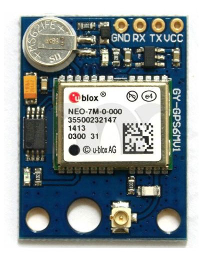A typical UBlox GPS module